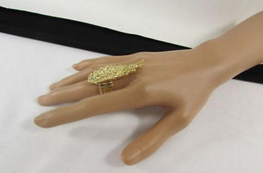 Other Women Gold Ring Long Eagle Wing Silver Beads One Band