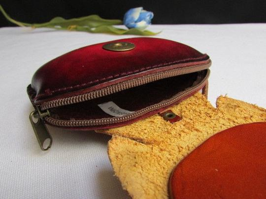 Unbranded Women Brown Cat Fish Purse Coin Bag Key Chain Genuine Leather Wallet