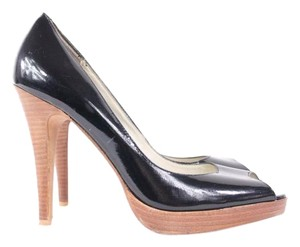 Steven by Steve Madden Lalo Black Patent Leather Pumps