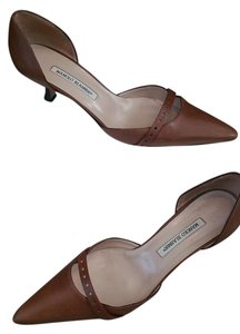 Manolo Blahnik Manolos Manolo Heels Leather Brown Pumps