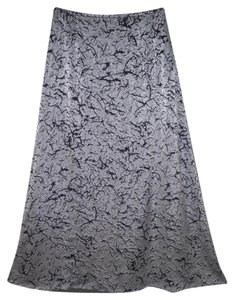 Escada Rayon Burnout Long A-line Maxi Skirt