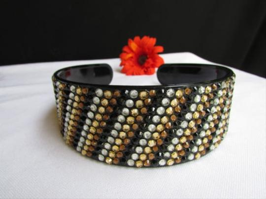 Other Women Black Brown Fashion Headband Hair Accessories Gold Silver Rhinestones