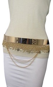 Other Women Fashion Gold Silver Chains Full Metal Plate Belt Hip Waist Small M 27-34