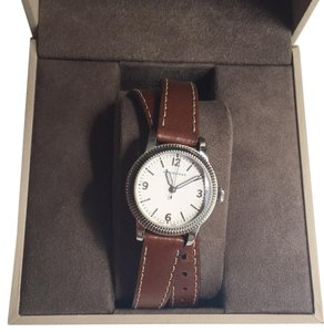 Burberry Unisex Swiss Utilitarian Tan Leather Double Strap Watch