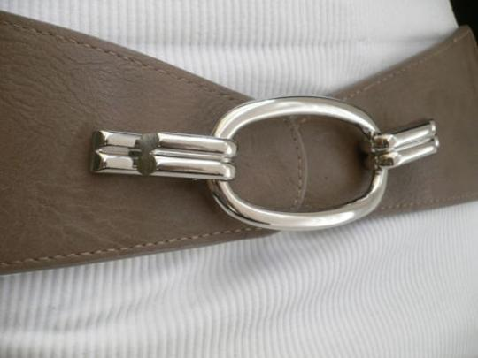 Other Women Hip Elastic Gray Wide Fashion Belt Silver Ring Buckle 28-34