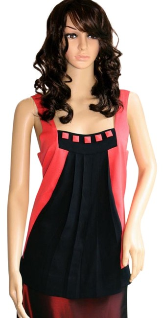 Preload https://img-static.tradesy.com/item/19282336/marc-by-marc-jacobs-coral-black-colorblock-tank-topcami-size-4-s-0-1-650-650.jpg