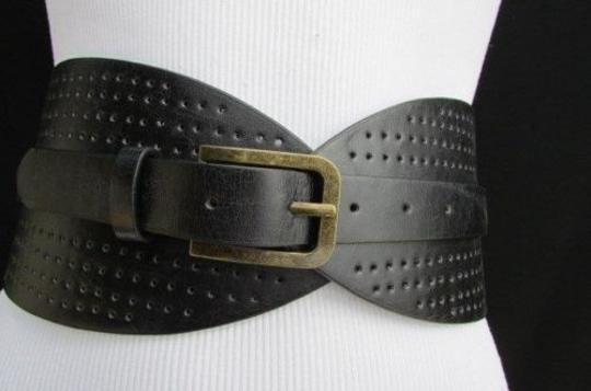Other Women High Waist 4 Wide Hips Western Fashion Belt Black Brown 26-35