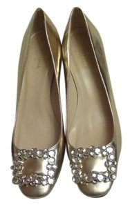 Kate Spade Made In Italy Leather Gold Pumps