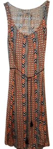 blue and orange Maxi Dress by Lucky Brand