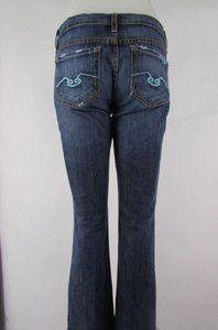 Blue Cult Women Blue Mid Rise Blue Denim Boot Cut Wide Fashion 27w 31l Flare Leg Jeans