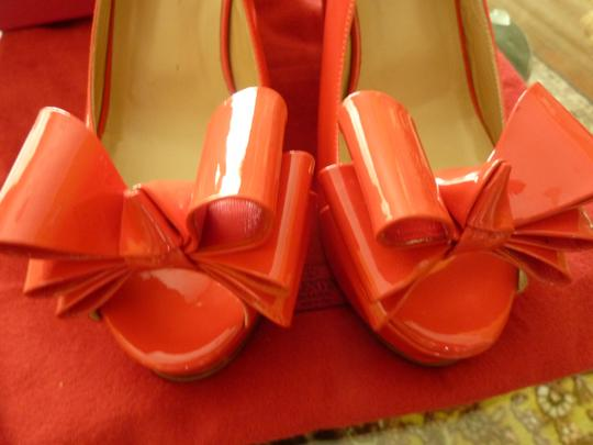 Valentino Patent Leather Italian Red Wedges