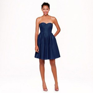 J.Crew Navy (Haven Blue) Marlie In Classic Faille Dress