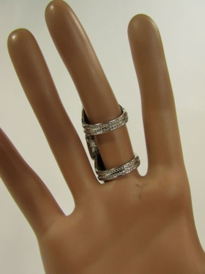 Other Women Fashion Jewelry Silver Long One Finger Metal Ring
