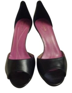 Kate Spade Leather Made In Italy Nwot Kitten Heel Black Pumps
