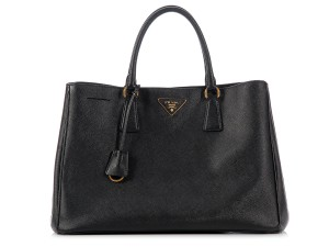 Prada Pr.k0622.12 Leather Snapped Tote
