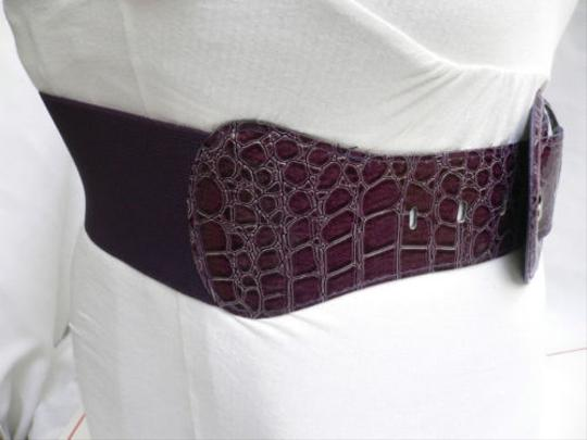 Other Women Hip Elastic High Waist Summer Purple Wide Fashion Belt Plus M-xxl 2xl