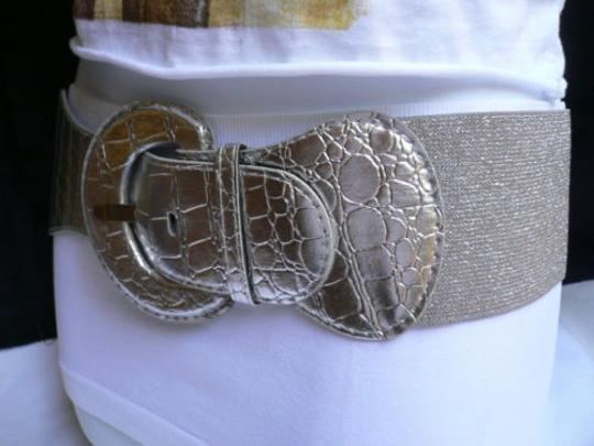 Other Women Silver Fashion Belt Hip Elastic High Waist Plus 32-48 M-xxl 2xl