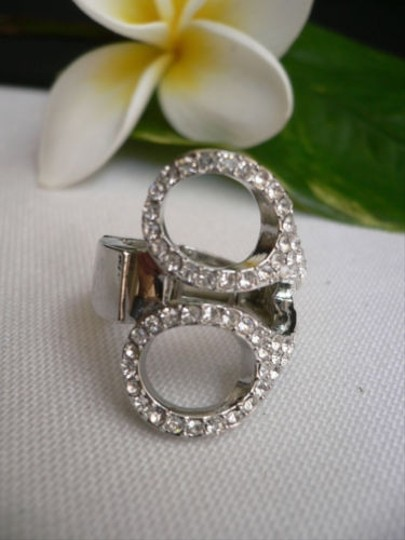 Other Women Silver Metal Scissors Casual Fashion Ring Elastic One Fits All
