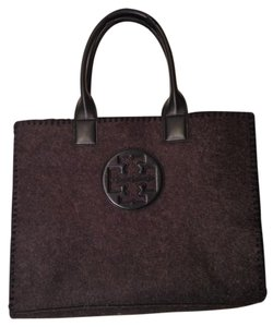 Tory Burch Office Cacual Travel Shopping Tote in Dark Grey