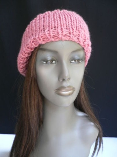 Other Women Coral Pink Bow Fashion Knit Neck Scarf Head Band Stylish Acrylic