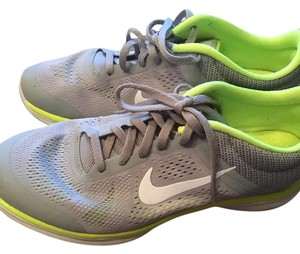 Nike Running Excersise Gray & neon yellow accents Athletic