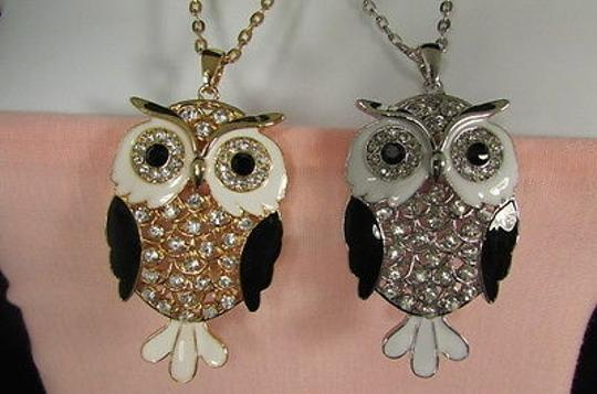 Other Women Fashion Necklace Long Chain Big Owl Bird Allow Pendant