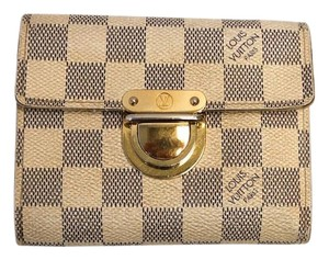 Louis Vuitton WAS $265 #8468 Damier azur Koala compact wallet