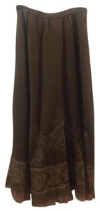 Coldwater Creek Maxi Skirt olive green