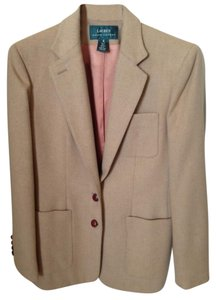 Lauren Dry Clean Luxury Lining Made In Usa Camel Blazer