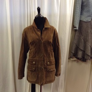 Ralph Lauren Suede Vintage Insulated Brown Leather Jacket