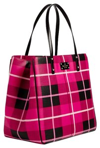 Kate Spade Pebbled Leather New With Tags Large Tote in Black & Pink