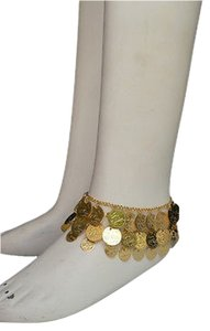 Women Gold Coins Anklet Metal Foot Chain Belly Dancing Fashion Bracelet