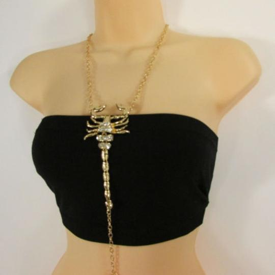 Other Women Gold Metal Body Chain Links Long Scorpion Fashion Jewelry Hot Necklace