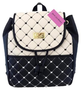 Betsey Johnson Front Snap Pocket Quilted Diamonds Backpack