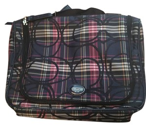 Coach Travel Hygiene Luggage Monogram plaid Travel Bag
