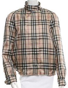 Burberry Nova Check Plaid Longsleeve Monogram House Check Beige, Black, Red Jacket