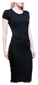 Black Maxi Dress by Other Lbd Rouching Midi Length Below Knee
