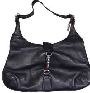 Coach Soft Leather Silver Hardware Cute Hobo Bag