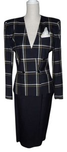 Other Navy Double Breasted Skirt Suit