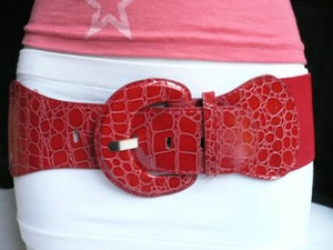 Other Women Hot Red Fashion Belt Hip Elastic High Waist Stretch Fabric