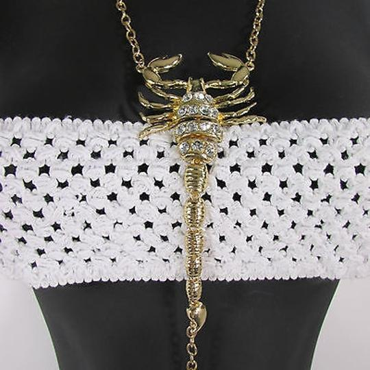 Other Women Gold Metal Body Chain Long Scorpion Jewelry Pool Party Necklace