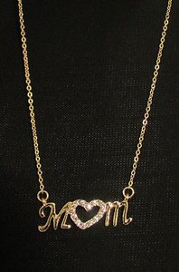 Women 15 Fashion Necklace Heart Love Mom Mother Day Rhinestones Gold Silver