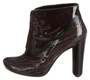 Louis Vuitton Fall Charcoal and evergreen patent leather Boots