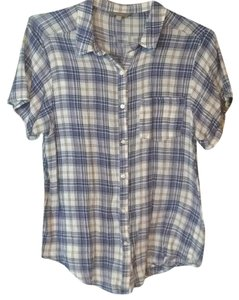 Rubbish Button Down Shirt Blue