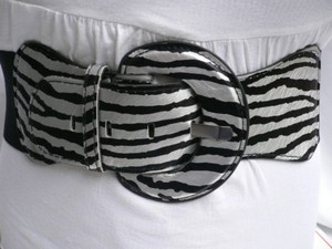 Other Women Hip Elastic Waist Stretch Zebra Belt Size M-xxl