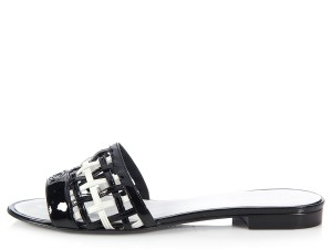 Chanel Ch.k0802.01 Leather Mules Sandals
