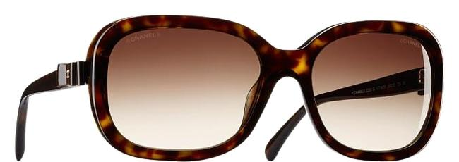 Chanel Brown Tortoise 5280 Q Ribbon Bow Patent Leather Cc Logo Oversized Square Charms Sunglasses Chanel Brown Tortoise 5280 Q Ribbon Bow Patent Leather Cc Logo Oversized Square Charms Sunglasses Image 1