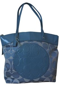Coach Laura Signature Tote in Light Blue