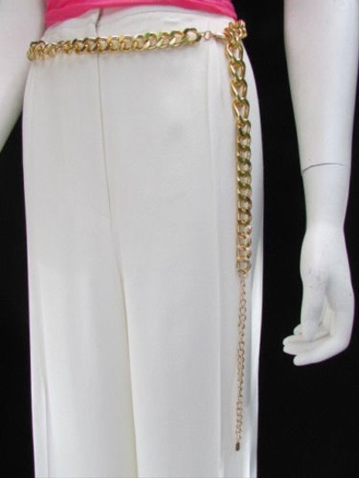 Other Women Long Gold Multi Strand Chains Rhinestones Necklace Metal Belt 28-40 S-l