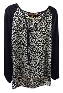 Ellen Tracy Size Medium Top Black & White